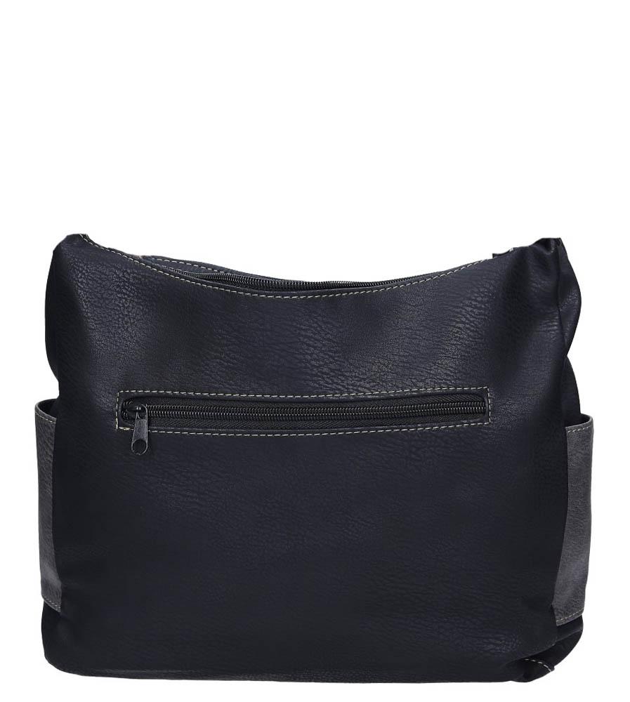 Czarna torebka z kieszonką z przodu Casu 2010E