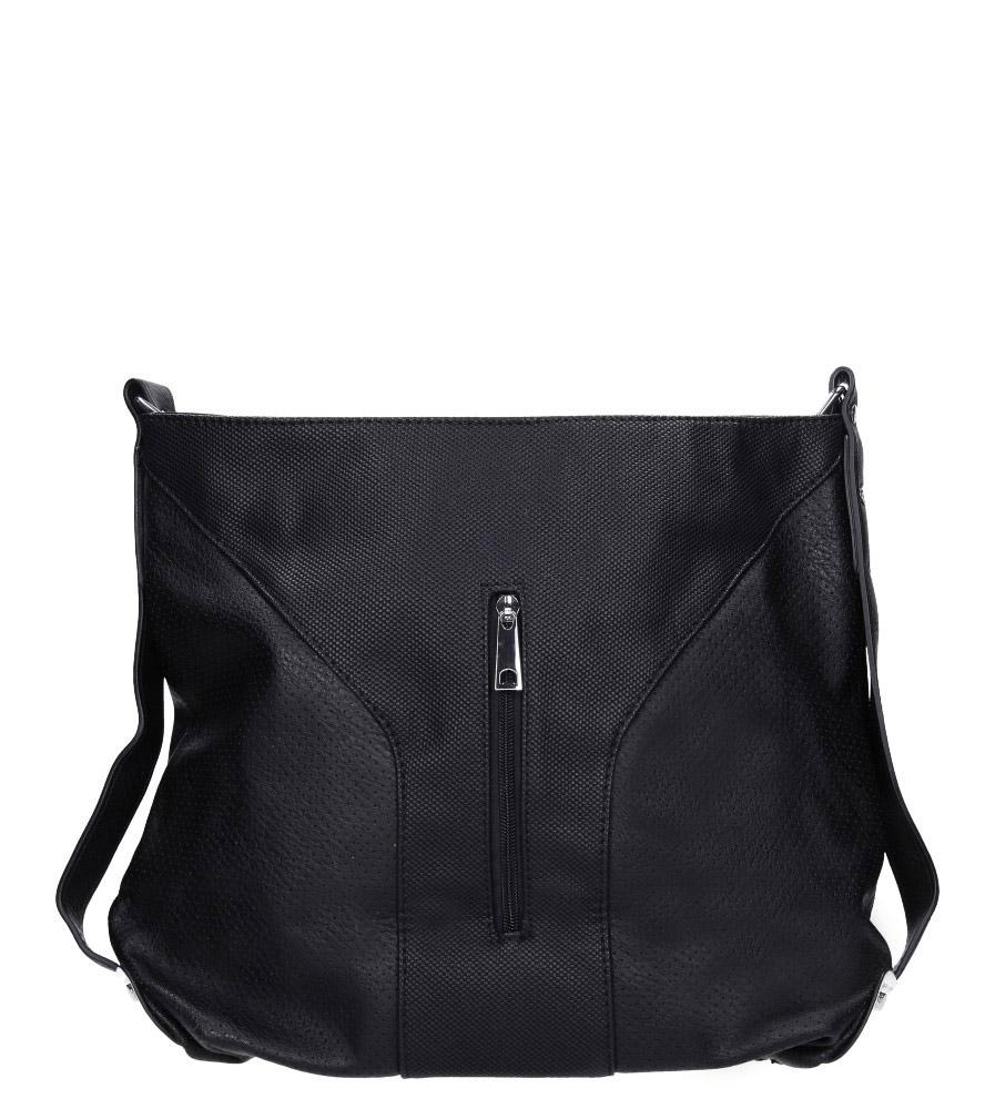 Czarna torebka z kieszonką z przodu Casu 2949-BB