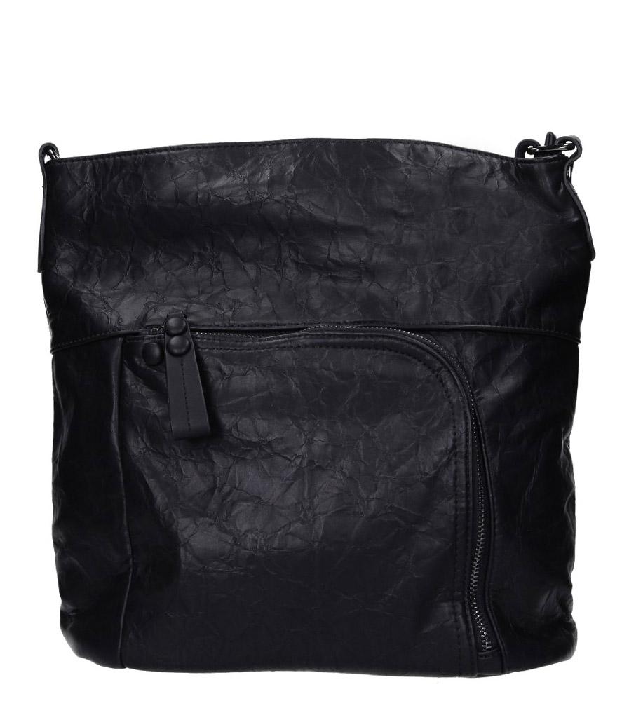 Czarna torebka z kieszonką z przodu Casu 3845-BB
