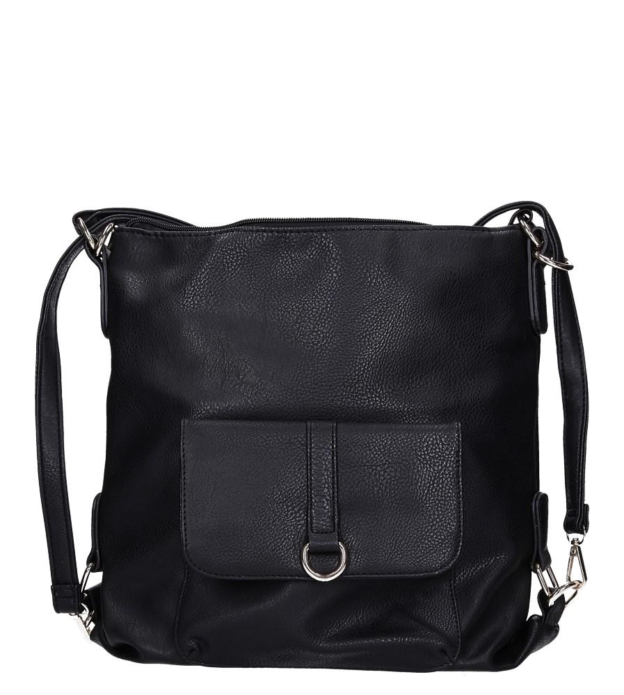 Czarna torebka z kieszonką z przodu Casu AE-85