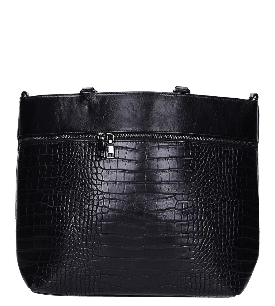 Czarna torebka z kieszonką z przodu Casu AG-19