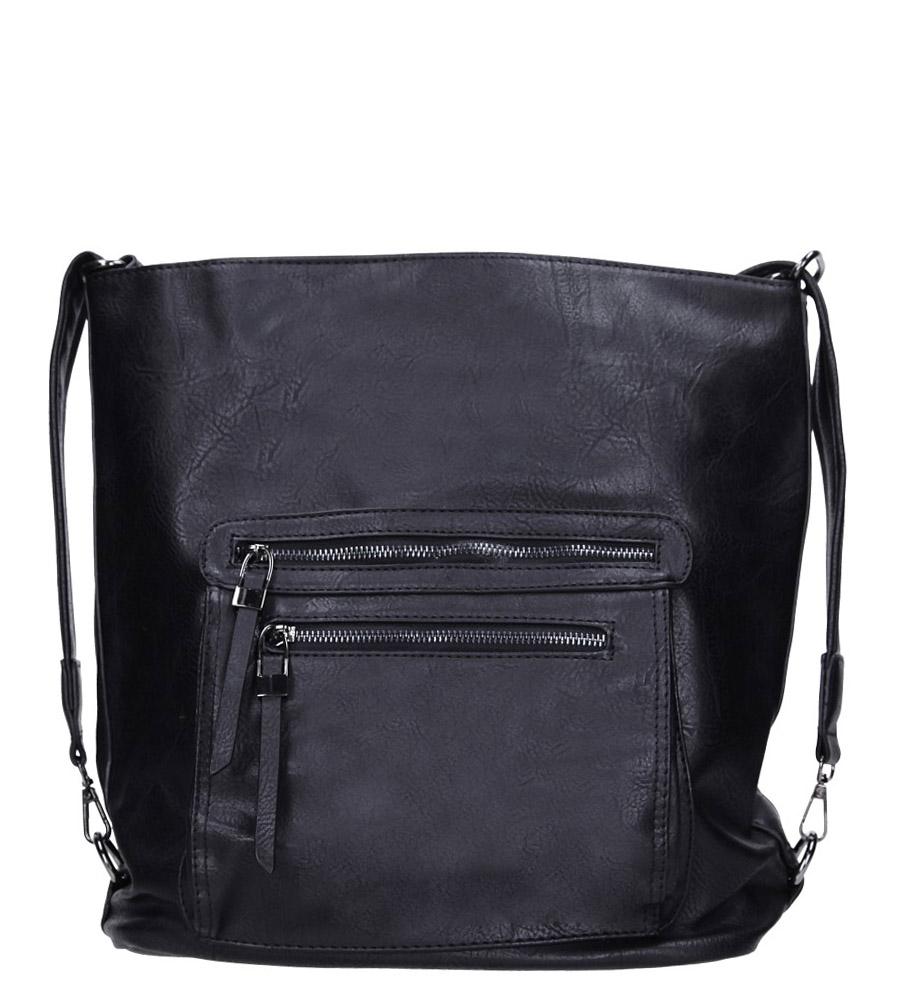 Czarna torebka z kieszonką z przodu Casu AG-23