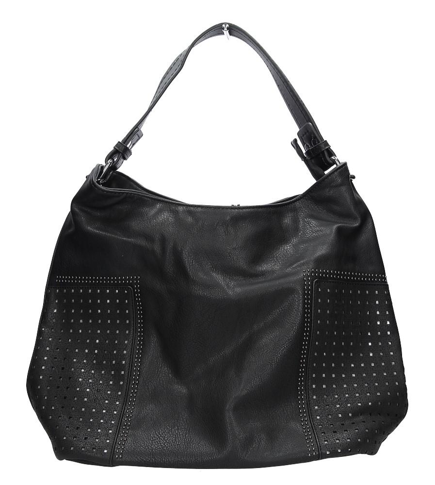 Czarna torebka z nitami Casu 2063