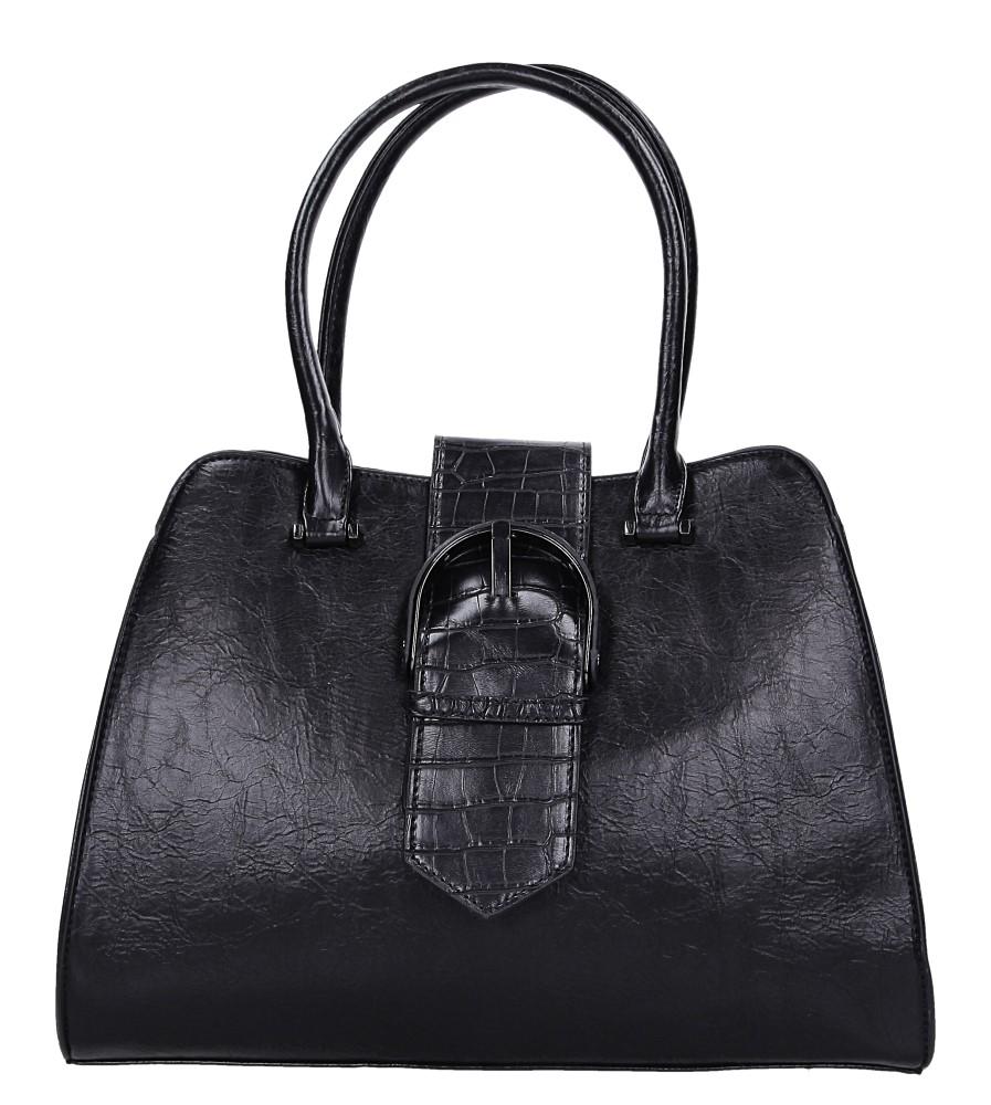 Czarna torebka z ozdobną klamrą Casu AG-6