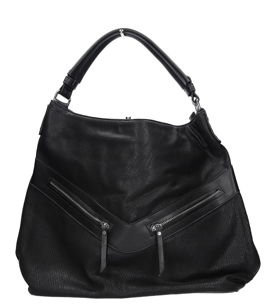 Czarna torebka z ozdobnym suwakiem Casu 2049
