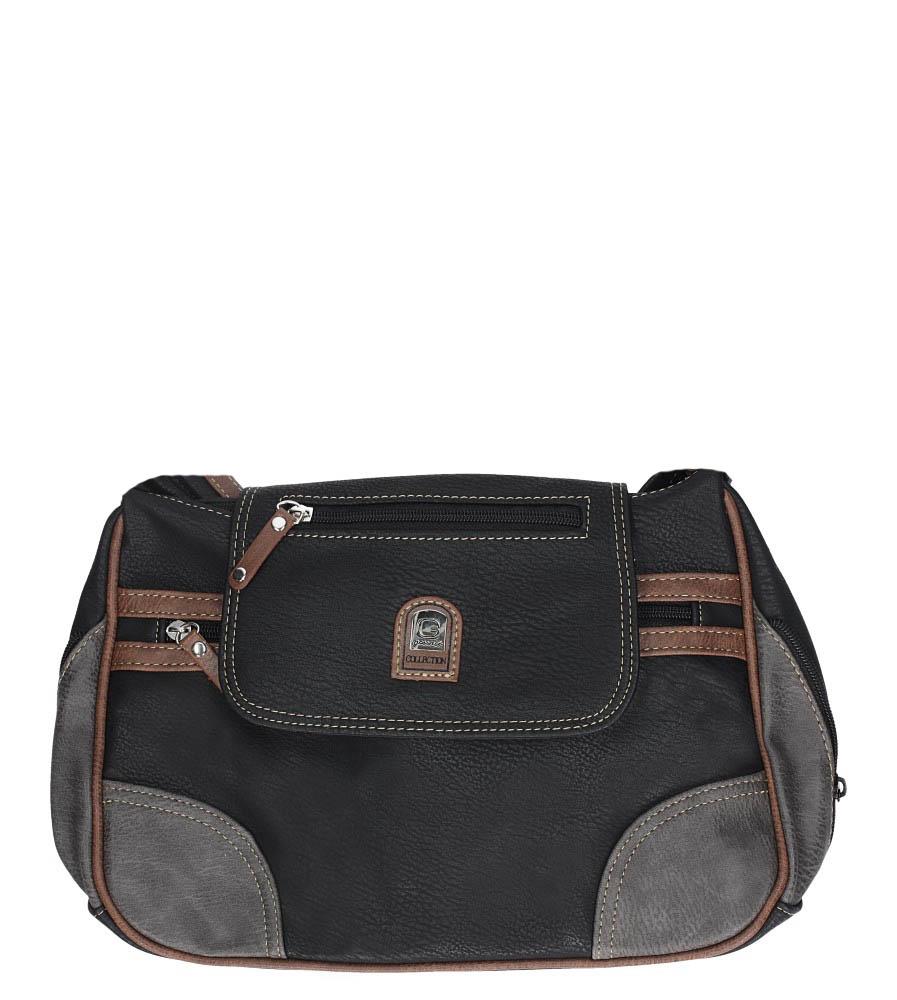 Czarna torebka z ozdobnym suwakiem Casu 2183E