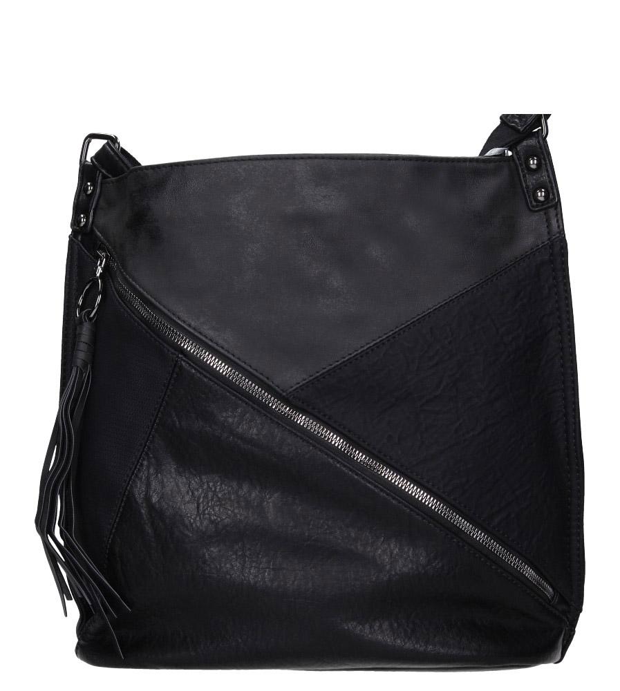 Czarna torebka z ozdobnym suwakiem Casu 3794-BB