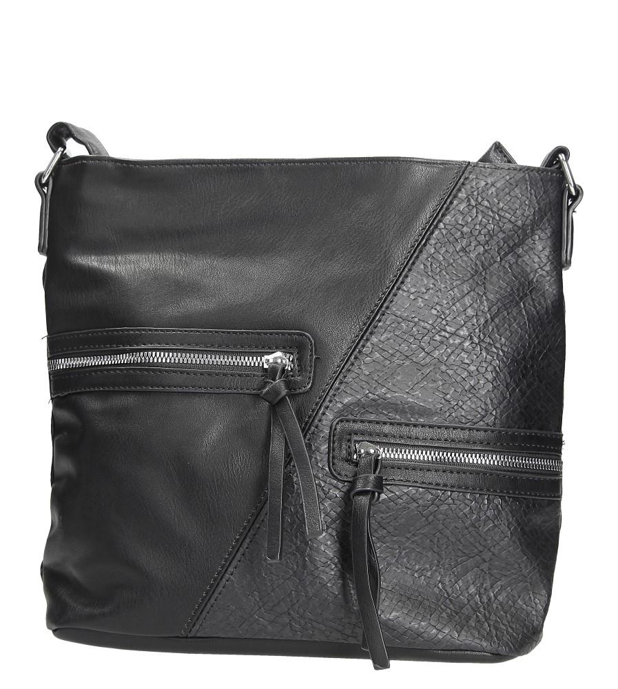 Czarna torebka z ozdobnymi suwakami Casu 9262