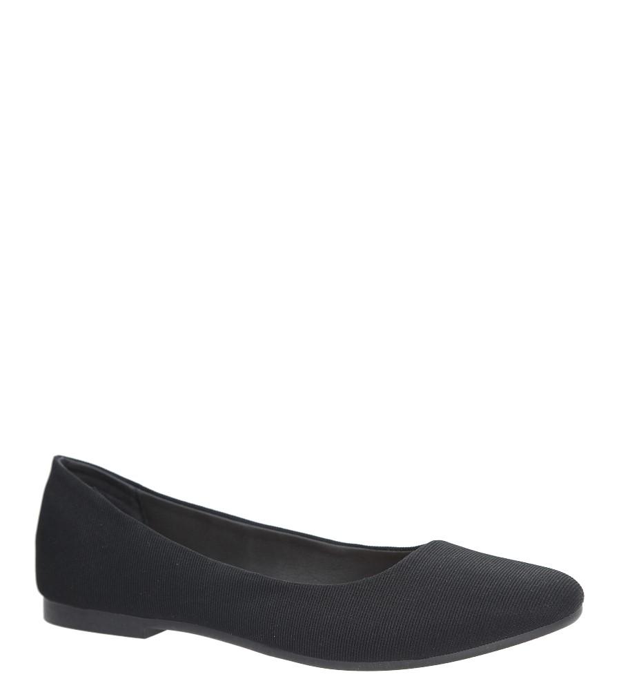 Czarne baleriny Casu DD414-1
