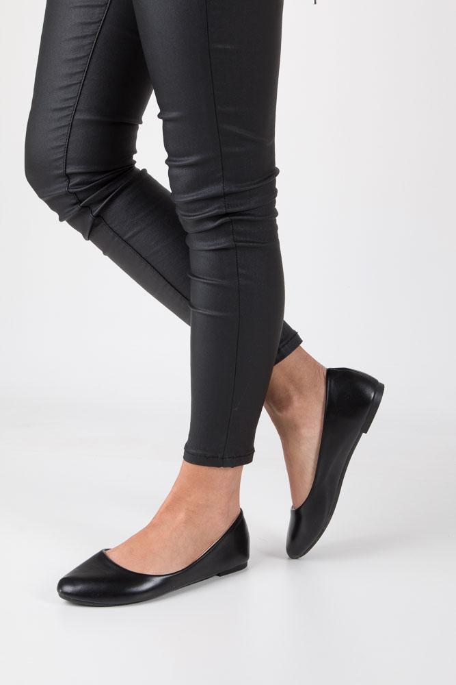 Czarne baleriny Casu SJ1766-2