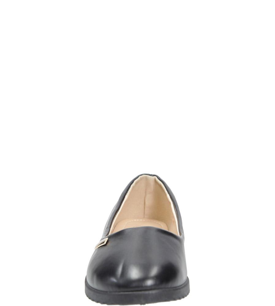 Czarne baleriny Casu SJ1777-1 kolor czarny