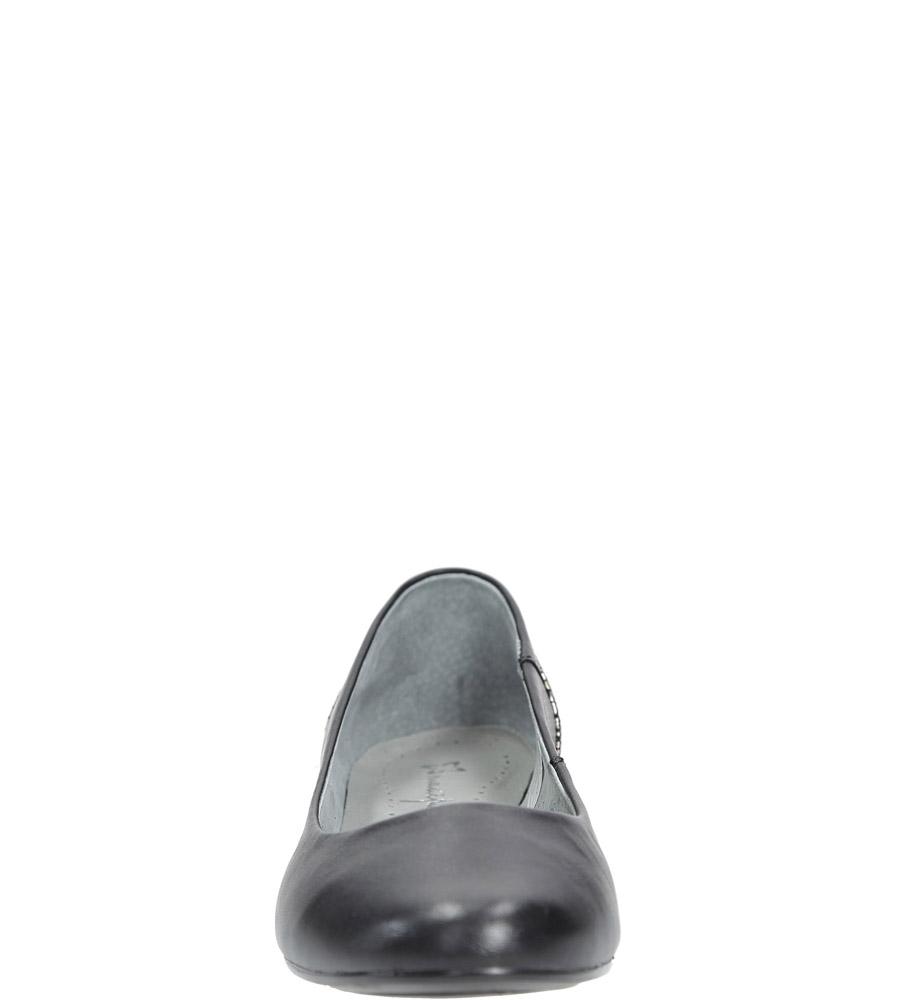 Czarne baleriny skórzane Maciejka 02899-25/00-5 kolor czarny