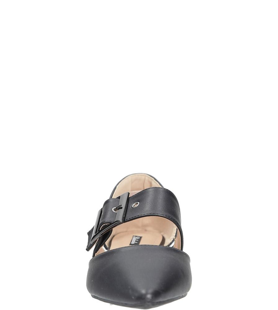 Czarne baleriny z klamrą Casu 9162-1 kolor czarny