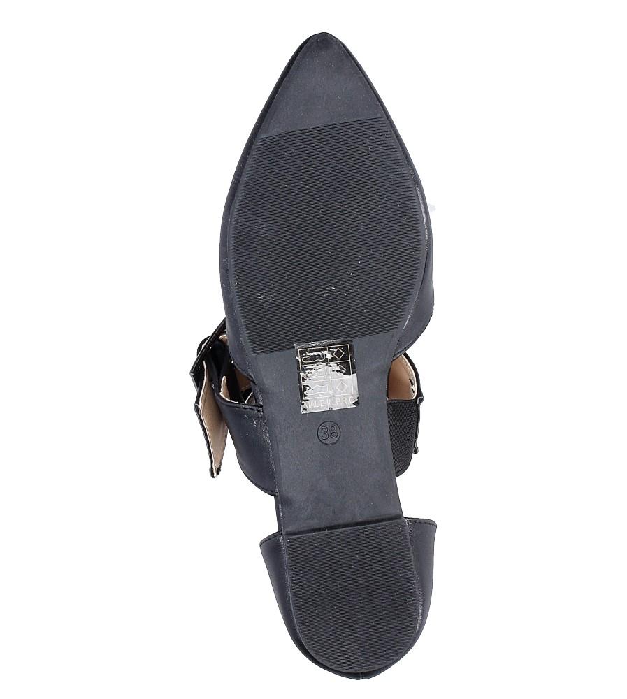 Czarne baleriny z klamrą Casu 9162-1 wierzch skóra ekologiczna