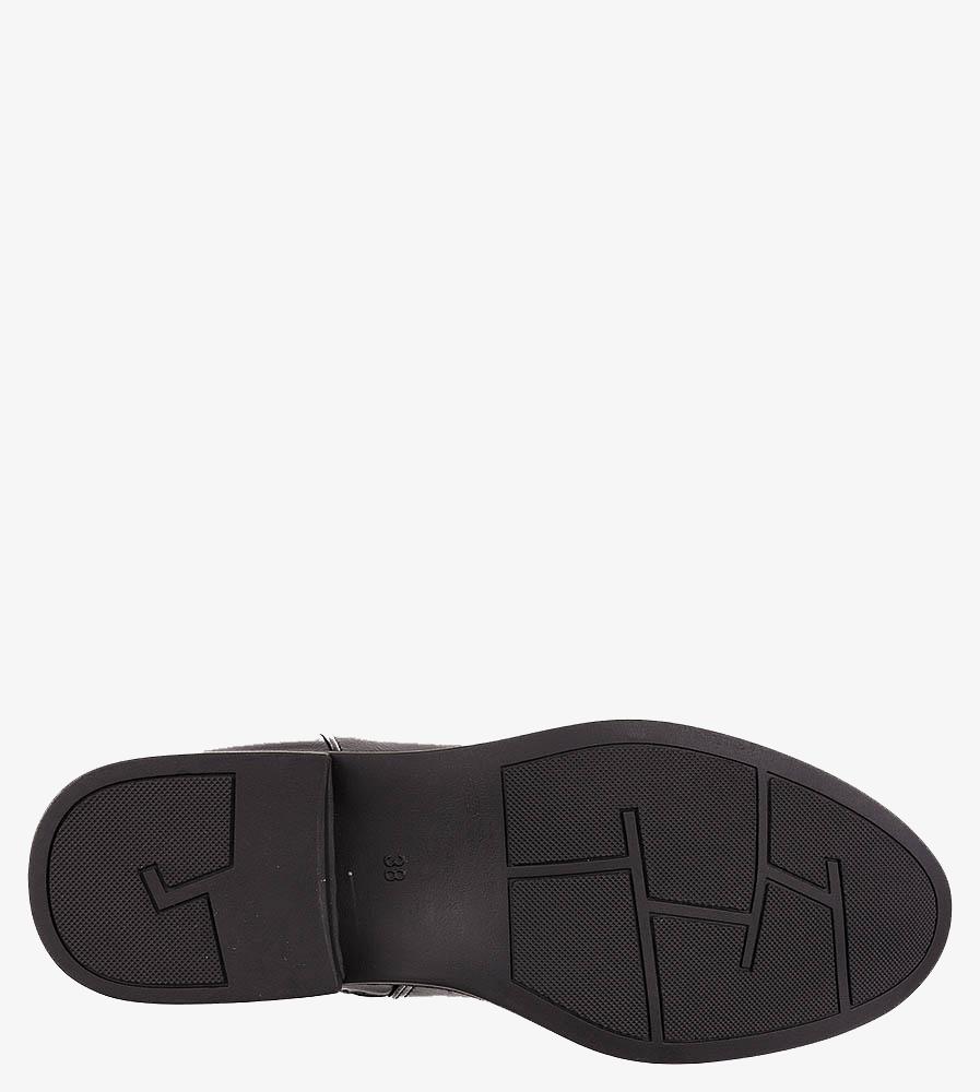 Czarne botki Casu z metalową ozdobą G20X2/B wys_calkowita_buta 19.5 cm