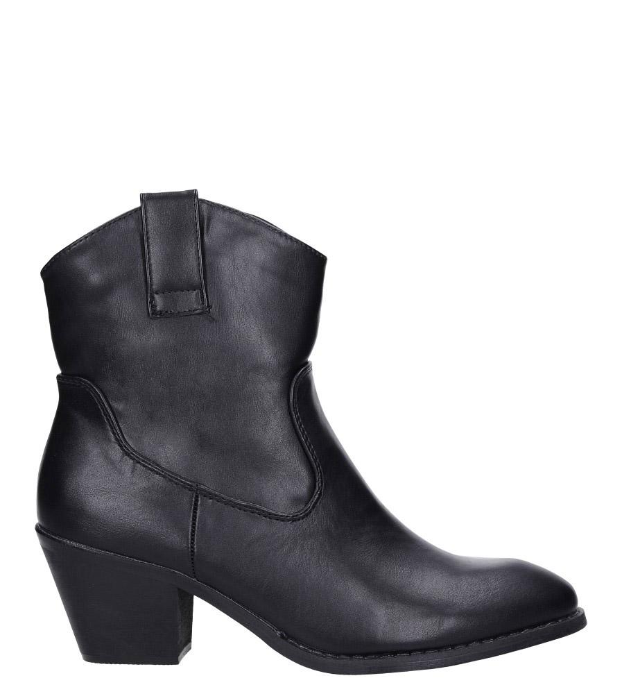 Czarne botki kowbojki na niskim obcasie Casu DA192X4/B wysokosc_platformy 0.5 cm