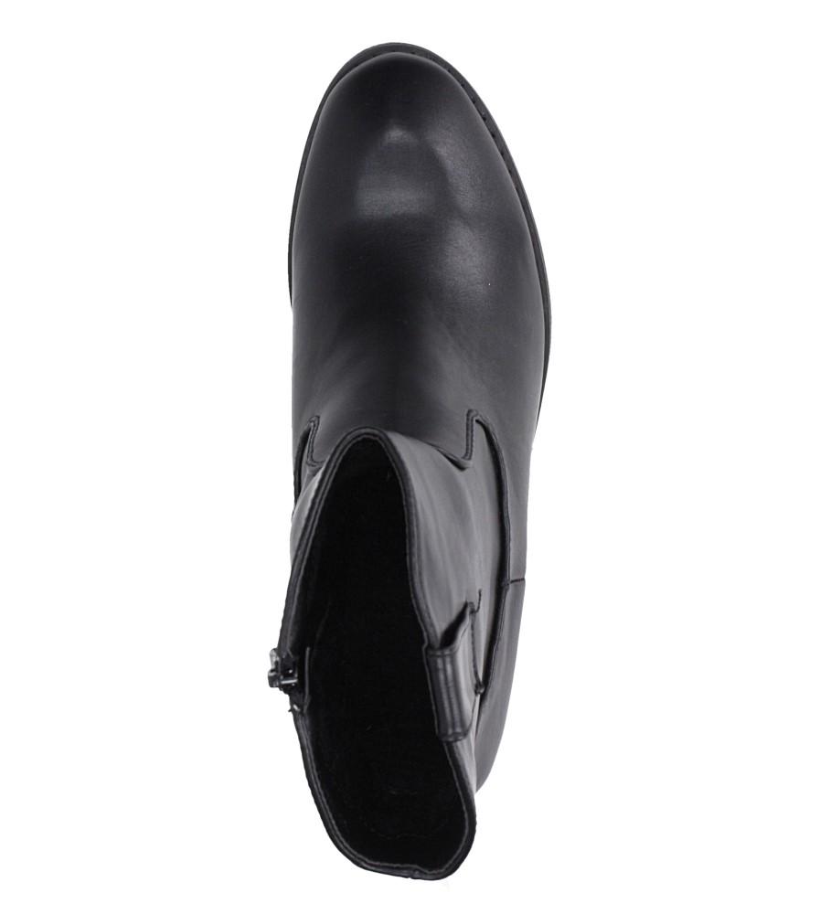 Czarne botki kowbojki na niskim obcasie Casu DA192X4/B obwod_cholewki_u_gory 26 cm
