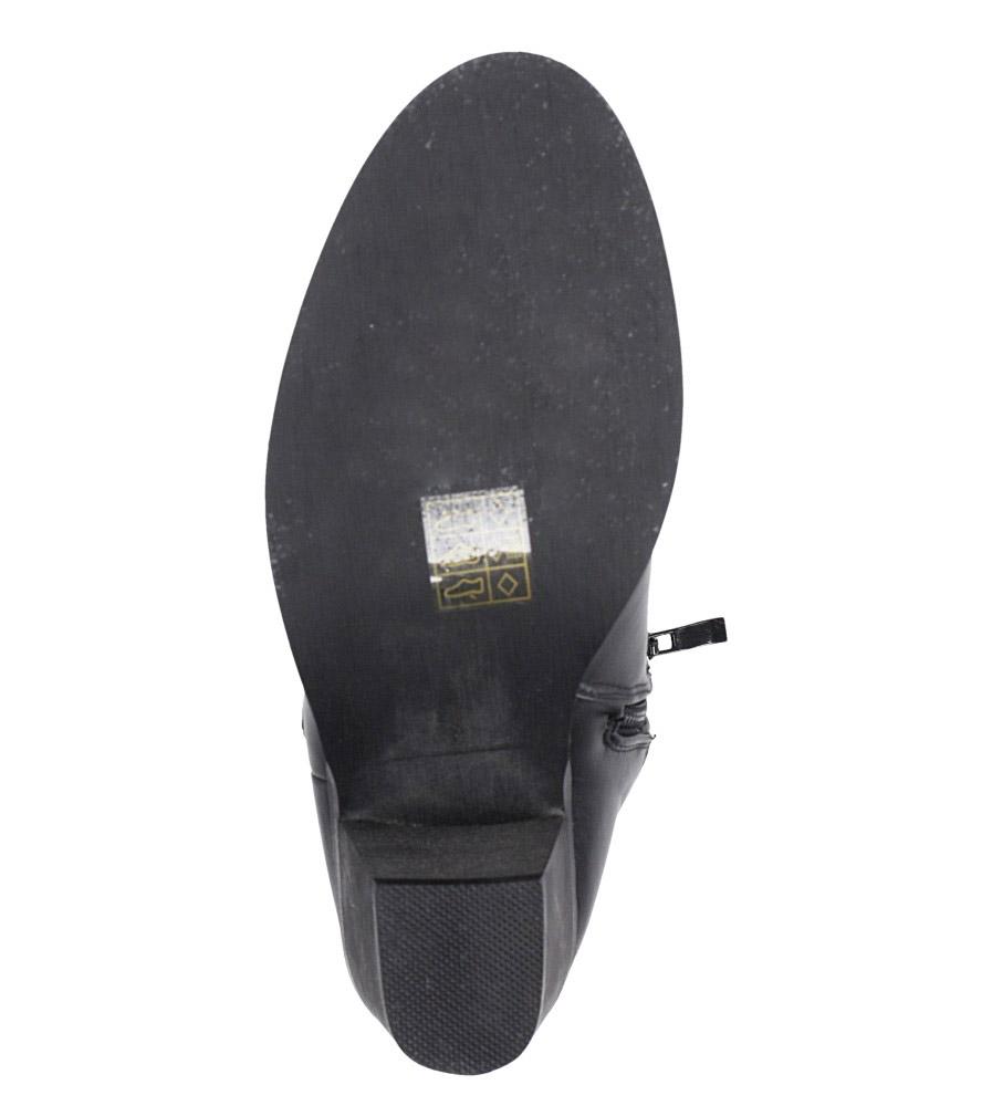 Czarne botki kowbojki na niskim obcasie Casu DA192X4/B obwod_w_kostce 28 cm