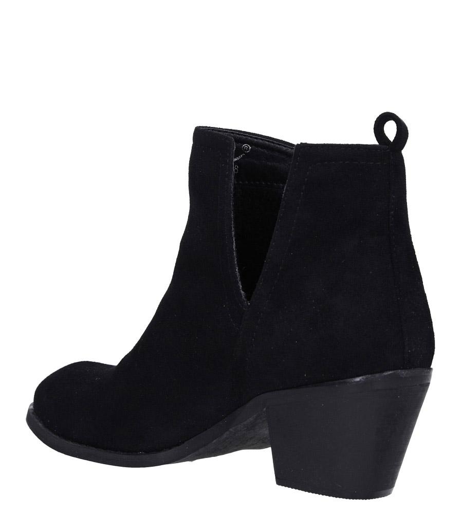 Czarne botki kowbojki na niskim obcasie Casu DA192X5/B wys_calkowita_buta 17 cm