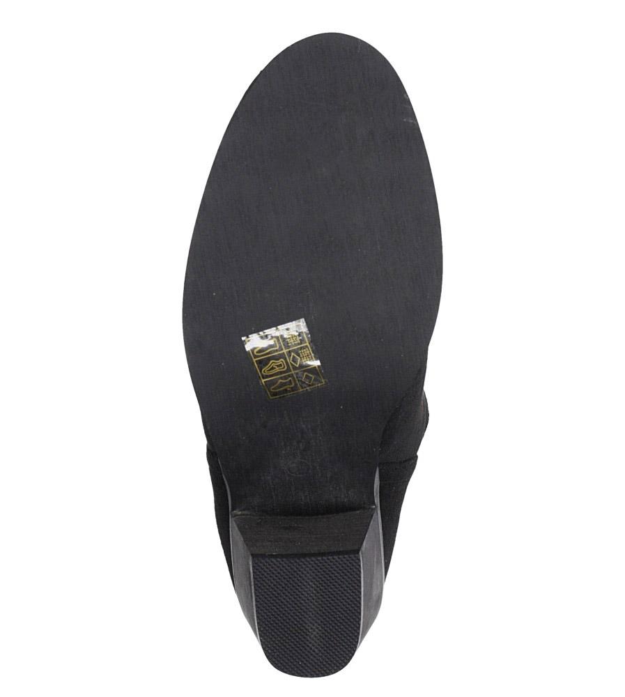 Czarne botki kowbojki na niskim obcasie Casu DA192X5/B wnetrze materiał ocieplany