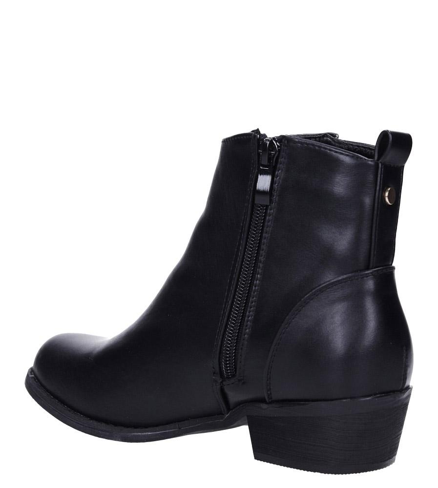 Czarne botki kowbojki na niskim obcasie Casu DA192X8/B wys_calkowita_buta 16 cm