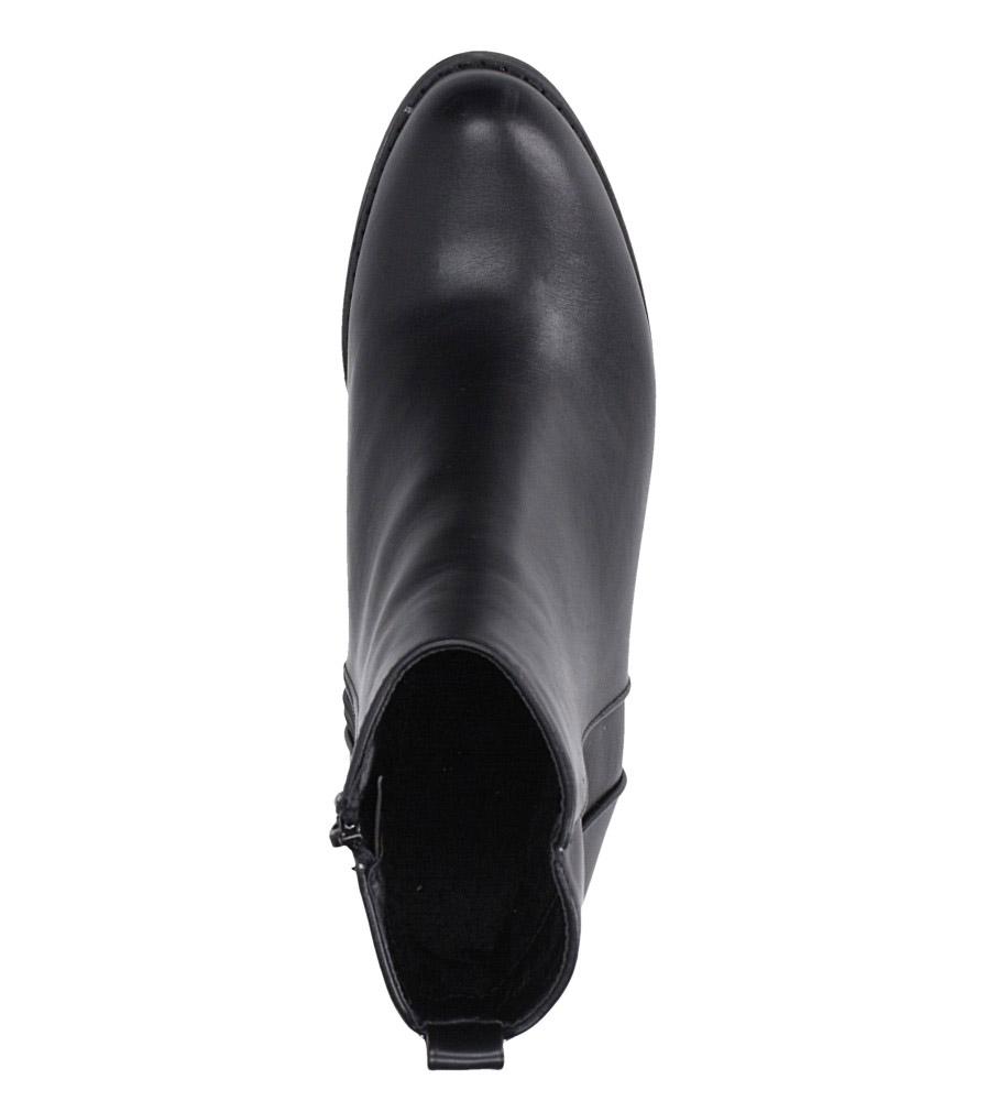 Czarne botki kowbojki na niskim obcasie Casu DA192X8/B obwod_cholewki_u_gory 22 cm