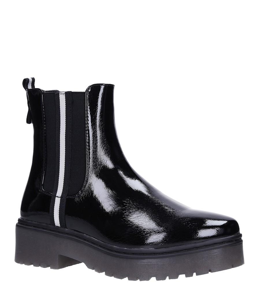 Czarne botki lakierowane z gumkami Sergio Leone TR721