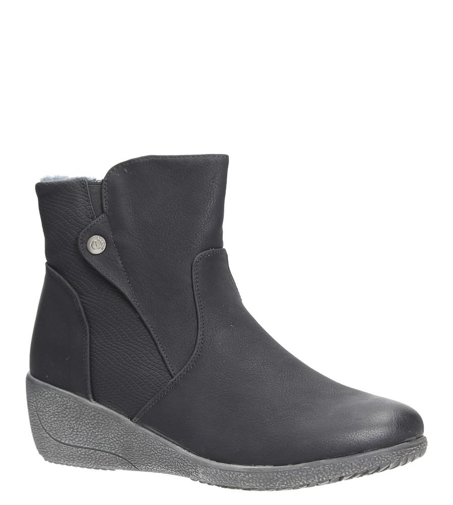 Czarne botki na koturnie Casu 37582-1 czarny