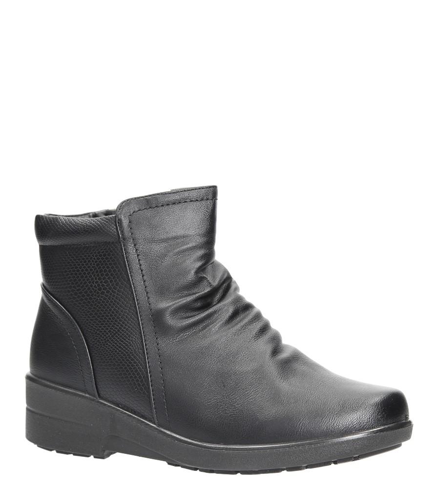Czarne botki na koturnie Casu 57801R-1
