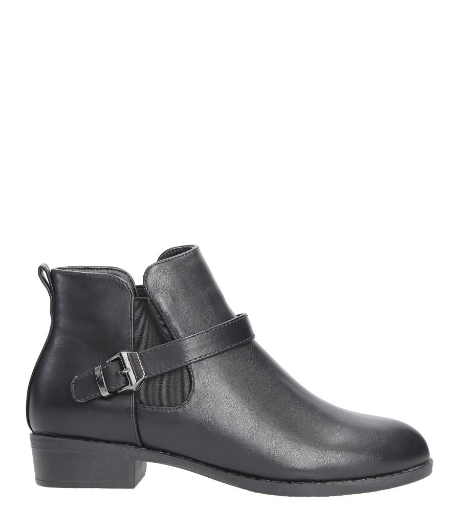 Czarne botki na niskim obcasie z klamrą Casu D18X15/B wys_calkowita_buta 18 cm