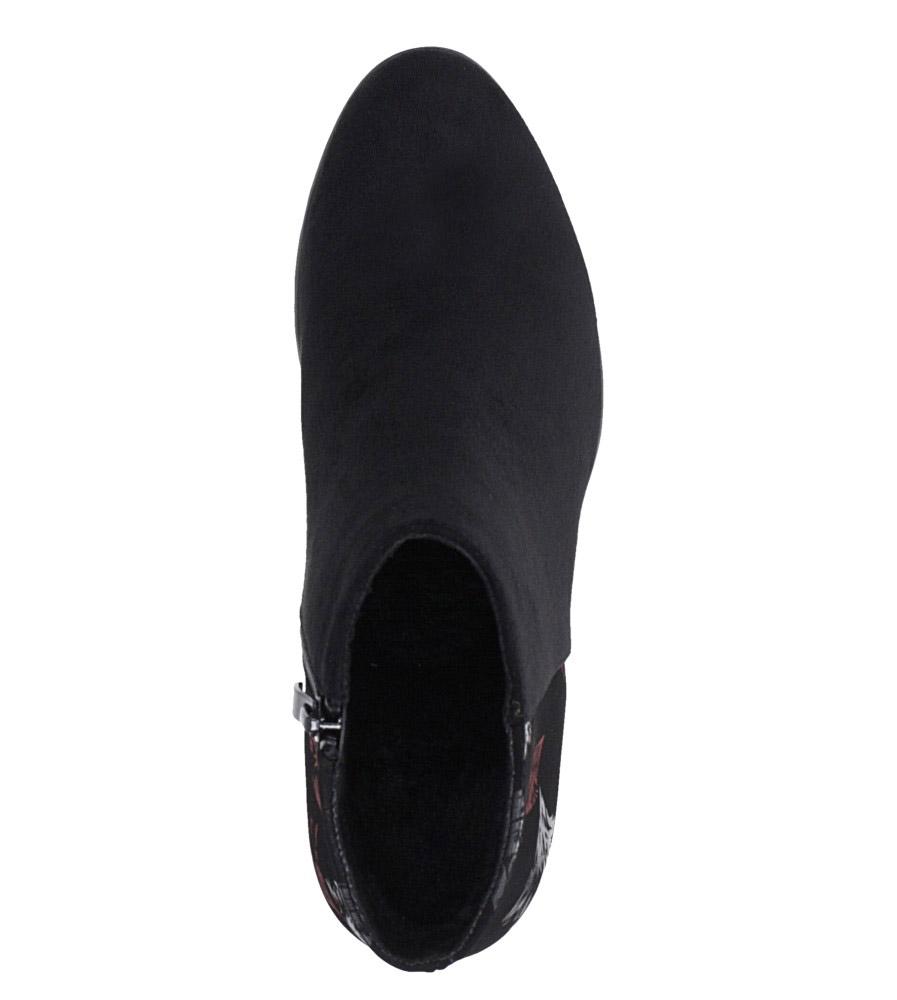 Czarne botki na słupku ozdobnym Sergio Leone BT547 obwod_w_kostce 28 cm