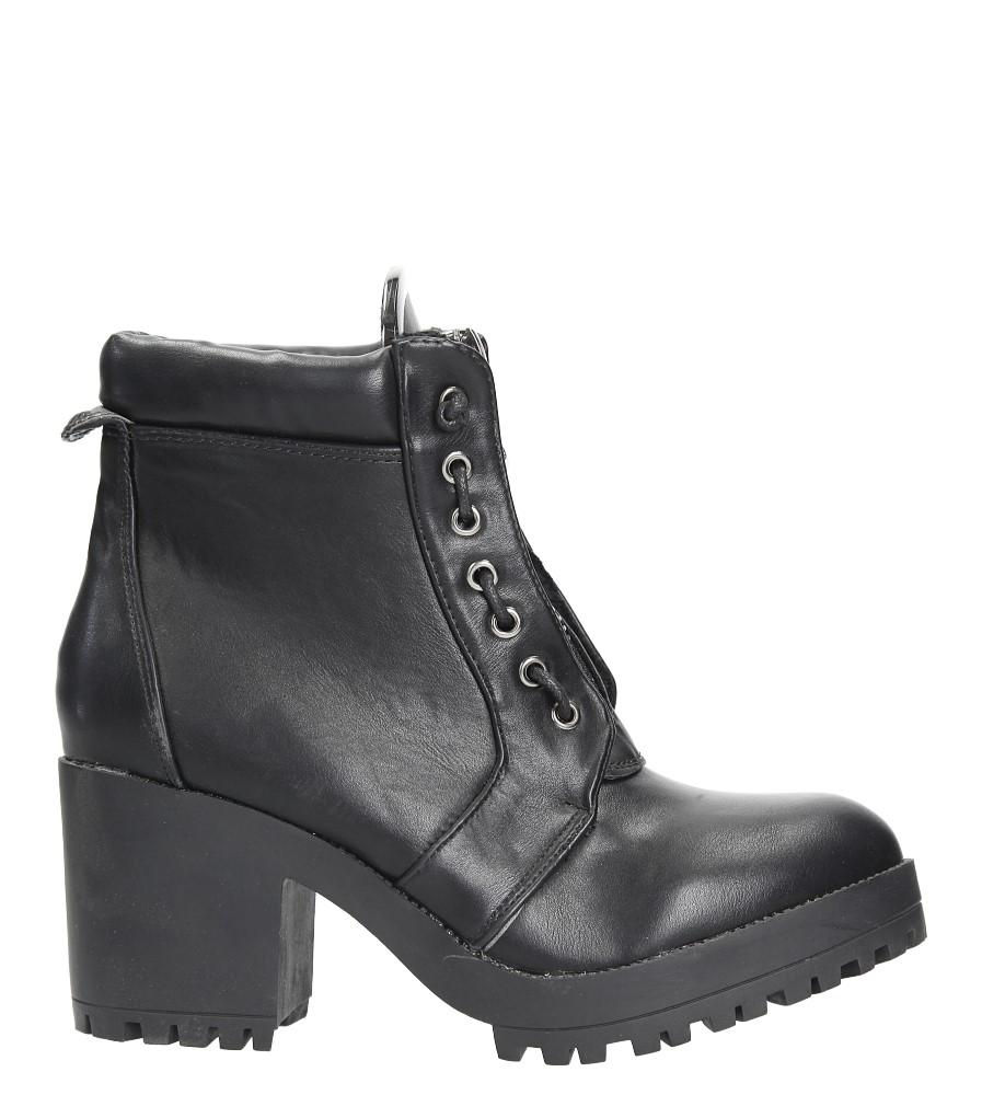 Czarne botki na słupku Casu 2110-1A wys_calkowita_buta 19.5 cm