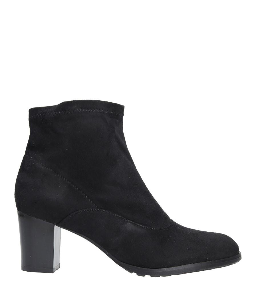 Czarne botki na słupku Casu A5357 wys_calkowita_buta 18 cm
