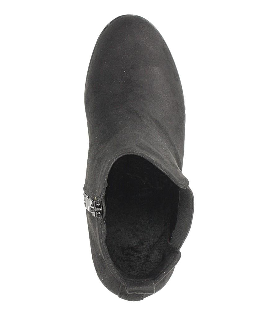 Czarne botki na słupku Casu D18X1/B obwod_w_kostce 23 cm