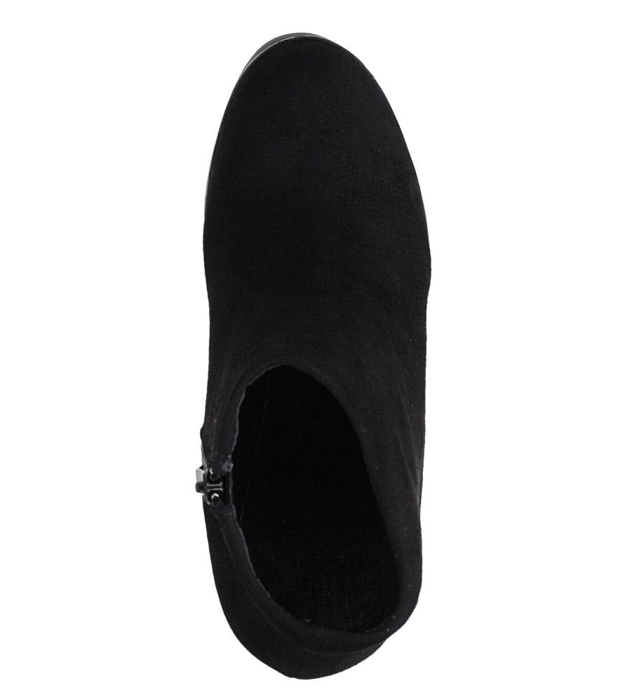 Czarne botki na słupku Casu D19X5/B obwod_w_kostce 26 cm