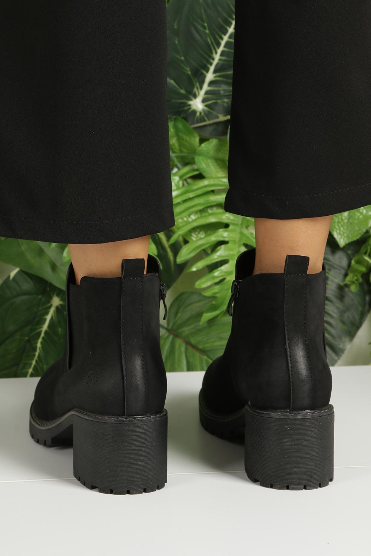 Czarne botki na słupku Sergio Leone BT700 kolor czarny