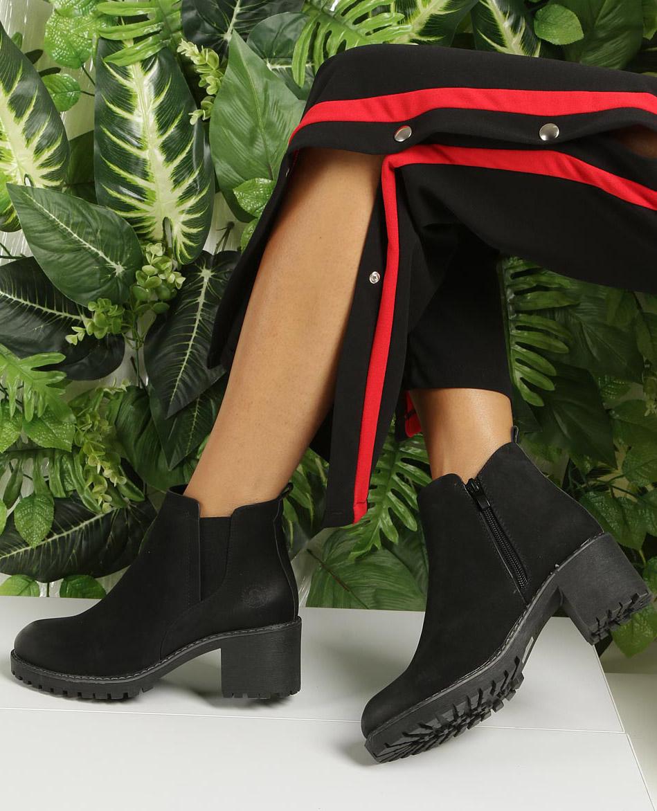 Czarne botki na słupku Sergio Leone BT700 wysokosc_obcasa 6 cm