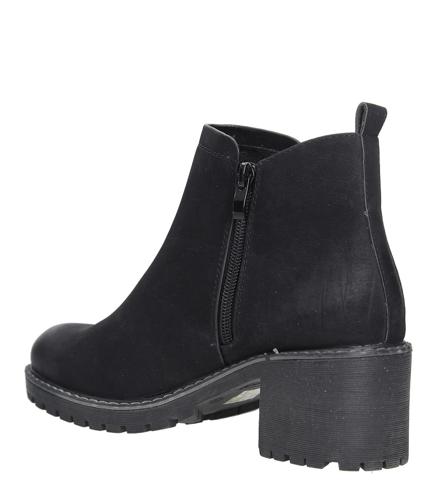 Czarne botki na słupku Sergio Leone BT700 wys_calkowita_buta 18.5 cm