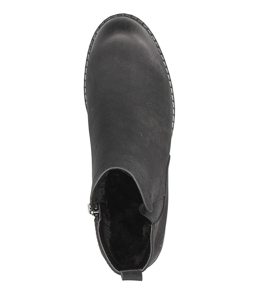 Czarne botki na słupku Sergio Leone BT700 wierzch skóra ekologiczna - nubuk