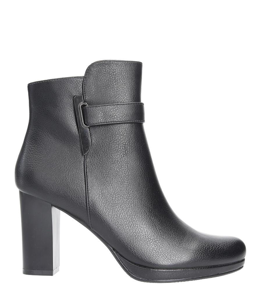 Czarne botki na słupku z metalową ozdobą Jezzi FAF125-2 wys_calkowita_buta 19.5 cm