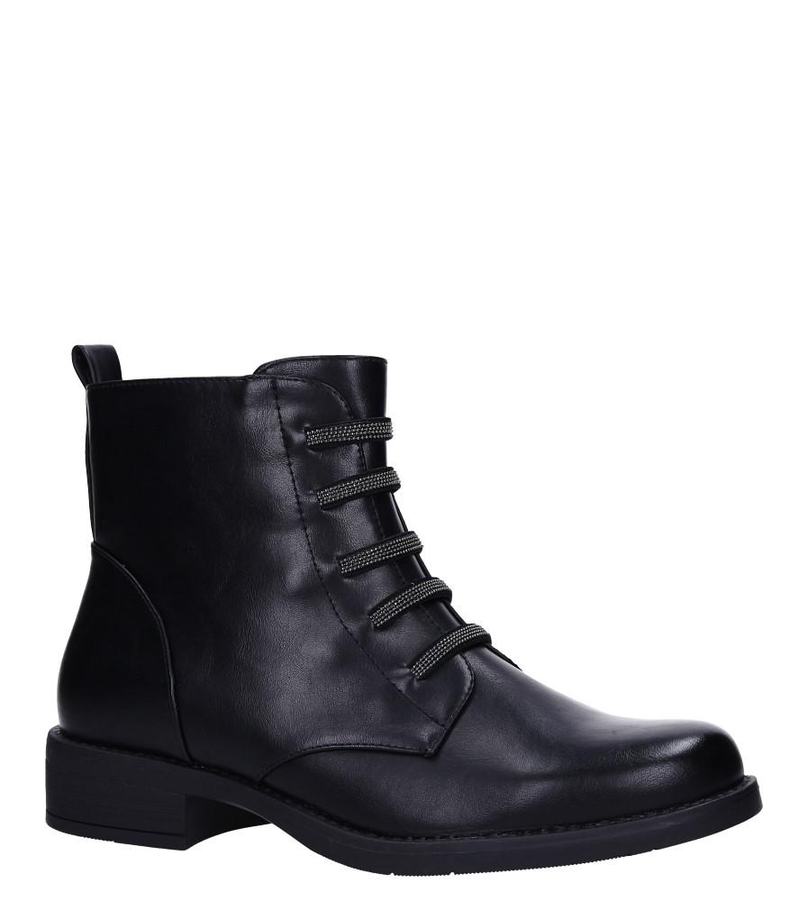 Czarne botki na słupku z nitami Sergio Leone BT556