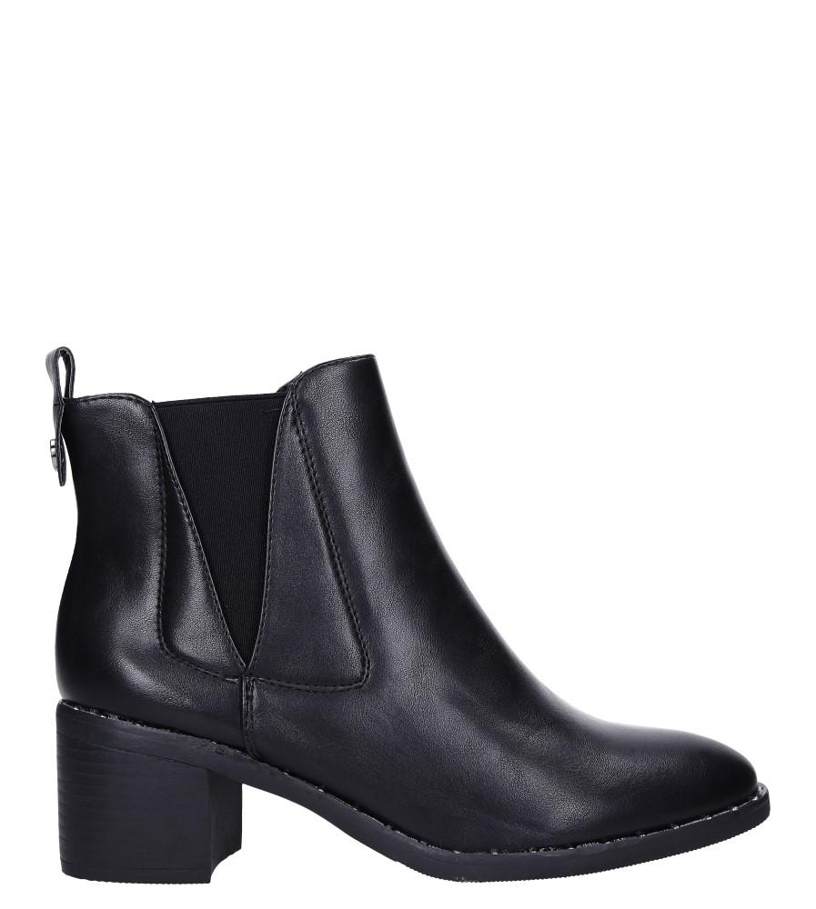 Czarne botki na słupku z ozdobną podeszwą Casu G19X27/B wys_calkowita_buta 18 cm