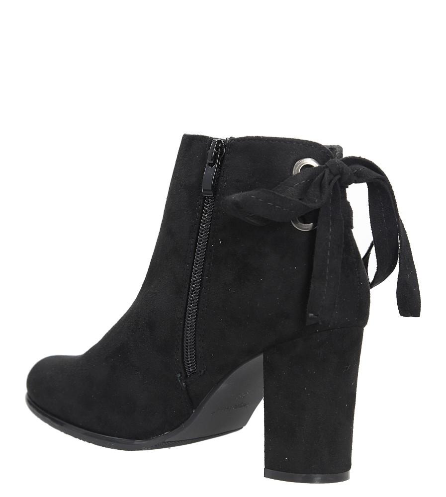Czarne botki na słupku z ozdobną wstążką Sergio Leone BT545 wys_calkowita_buta 17.5 cm