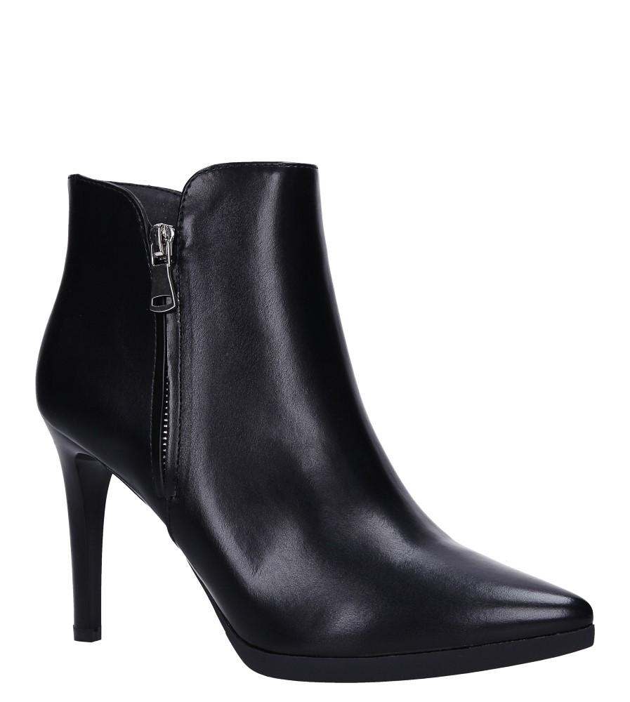 Czarne botki na szpilce z ozdobnym suwakiem Sergio Leone BT502