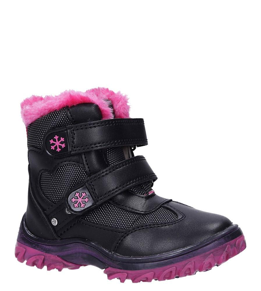 Czarne botki śniegowce na rzepy Casu 7028 model 7028