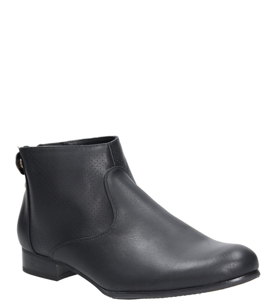 Czarne botki wiosenne ażurowe Sergio Leone 2051-1 czarny