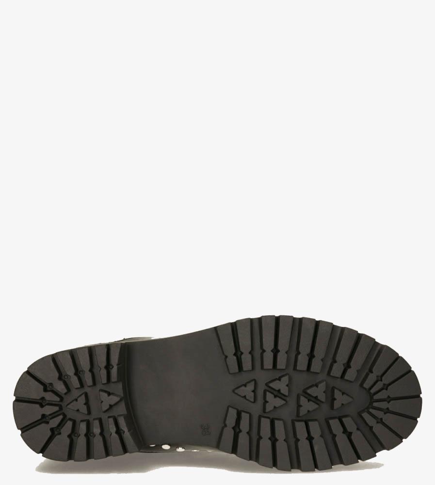 Czarne botki workery z gumkami po bokach nity Casu G20X6/B obwod_w_kostce 26 cm