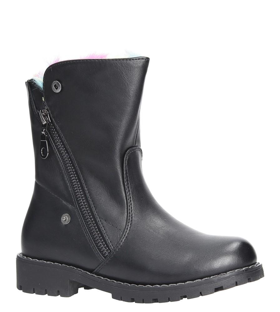 Czarne botki z futerkiem Sergio Leone DZ013 czarny