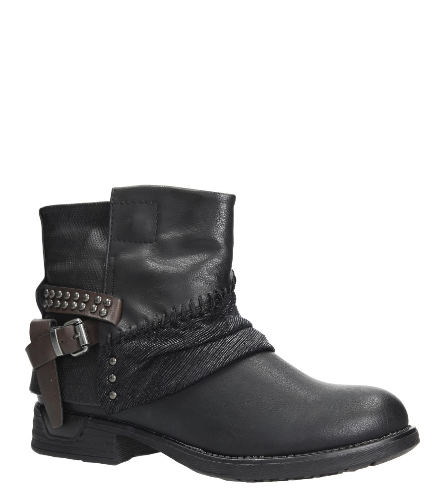 77301915ca115 Buty Czarne botki z klamrą i nitami Casu 283-PA - Sklep Casu.pl