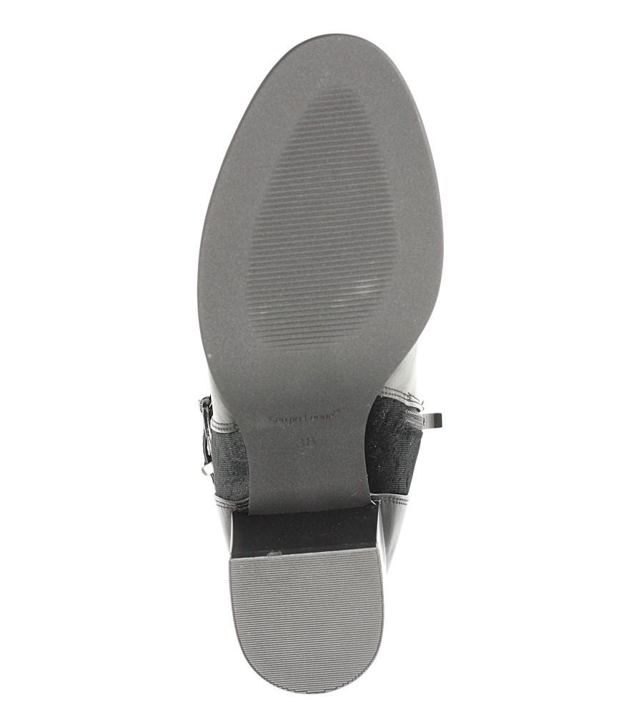 Czarne botki z klamrą Sergio Leone BT503 wkladka futerko
